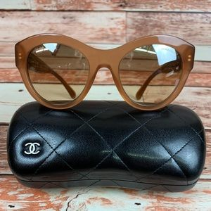 Chanel Butterfly glasses 5371 52mm Beige/Brown